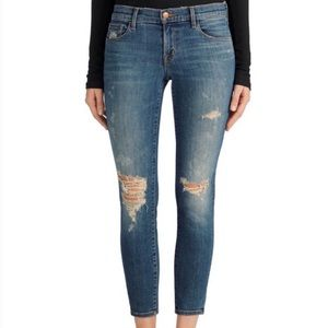J brand jeans low rise crop skinny jeans